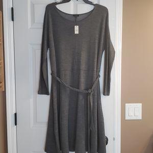 NWT Talbots lightweight wool gray dress sz x